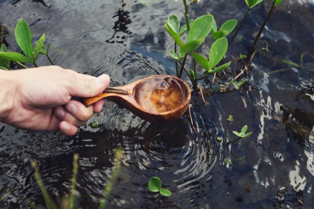 hand schept water